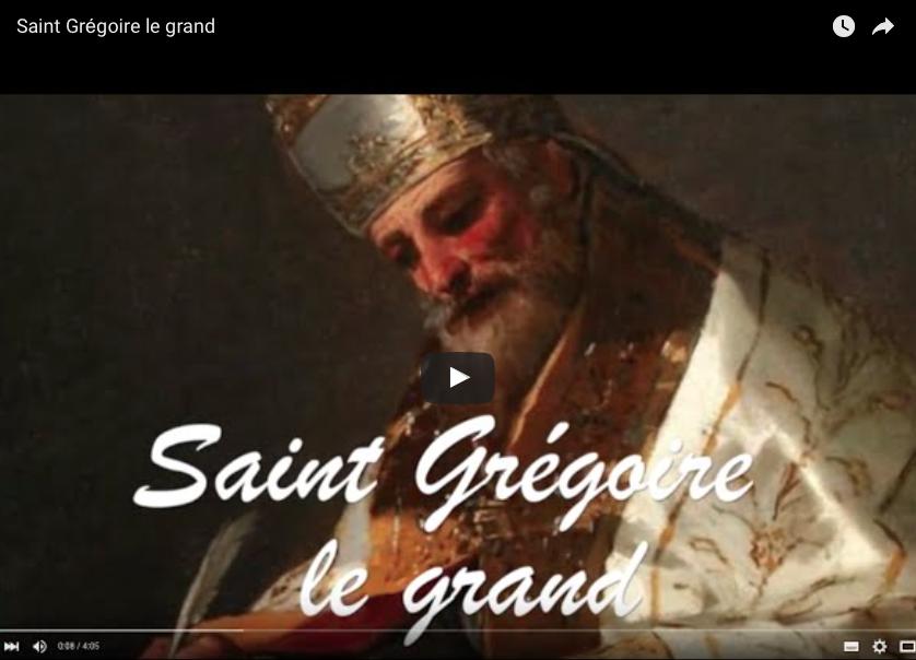 Vidéo : Saint Grégoire le grand