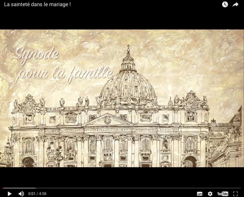 Vidéo : La Sainteté dans le mariage !